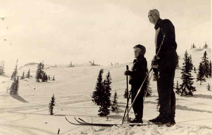 Tata i ja na Jahorini 1951.
