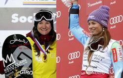 snowboarderka i skijasica