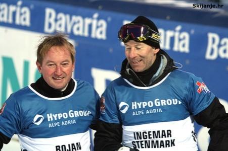Smucarske legende : Bojan Krizaj SLO) i Ingemar Stenmark