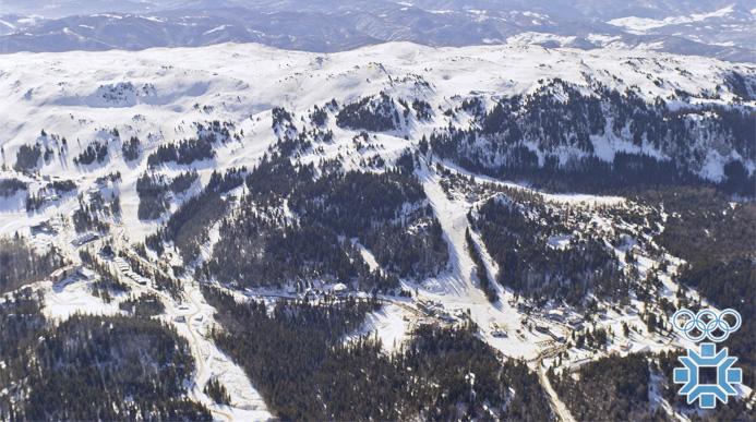 """Olimpijski Ski centar """"Jahorina"""" - avio snimak pred ZOI.84."""