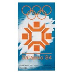 Plakat ZOI'84. Sarajevo Jugoslavija