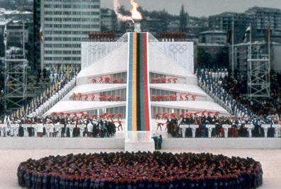 """ZOI'84. svecano otvaranje na stadionu """"Kosevo"""" u Sarajevu"""