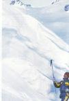 Ispitivanje cvrstine snijega lavine koja se obrusila a potom umirial i stala