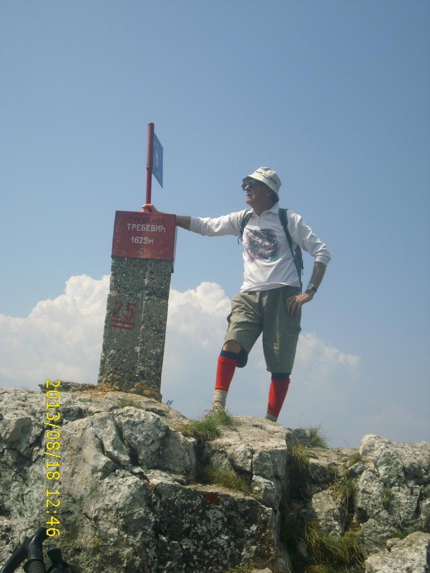 Tomislav Batinic na vrhu Trebevica