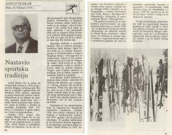 Iz knjige 50.Godina smucanja na Palama - Adolf Slokar - Dolfi