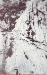 Moja omiljena fotografija na Pizdinim vodama - uspon na Prenj is Boracke drage sa Slavkom i Vinkom - jedino mjesto gdje u stijeni ima vode a mostarski planinari tu pukotinu u stijeni nakon zime ponovo markiraju i skidaju mahovinu;