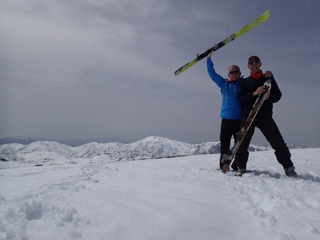 Nemanja Hrnjez i Nenad Raic na turnom skijanju, Visocica31.03.2014.