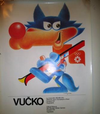 Vucko maskota Zimskih Olimpijskih Igara 1984. Sarajevo BiH, Jugoslavija