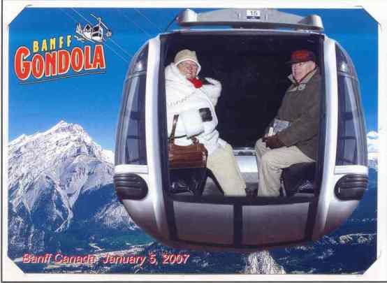 u Banfu, AB Canada, gondola ns Sulfure Mountain
