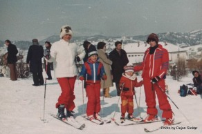 Slavica, Dejan, Darija i Gordana na Jahorini-Poljice 1982.