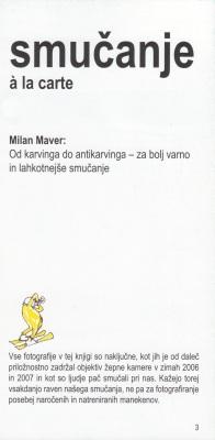 Smucanje a la carte autor Milan Maver 1