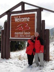 Slavica i Vlatko na skijalistu iznad Jaspera, AB