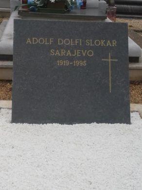 Adolf Dolfi Slokar - grob
