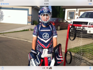 Stef u hokej oopremi 2014.