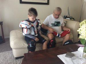 Stefan i deda hokej oprema f