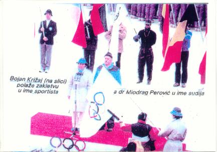 Perovic i Krizaj na otvaranju ZOI'84.