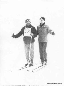 Tata Dolfi i Mirko Slokar na Jahorini na takmicenju organizovanom povodom tatinih 30.godina bavljenja skijanjem.