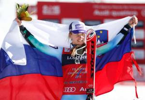Alpine Skiing: FIS World Championships-Women's Alpine Combined Slalom Run