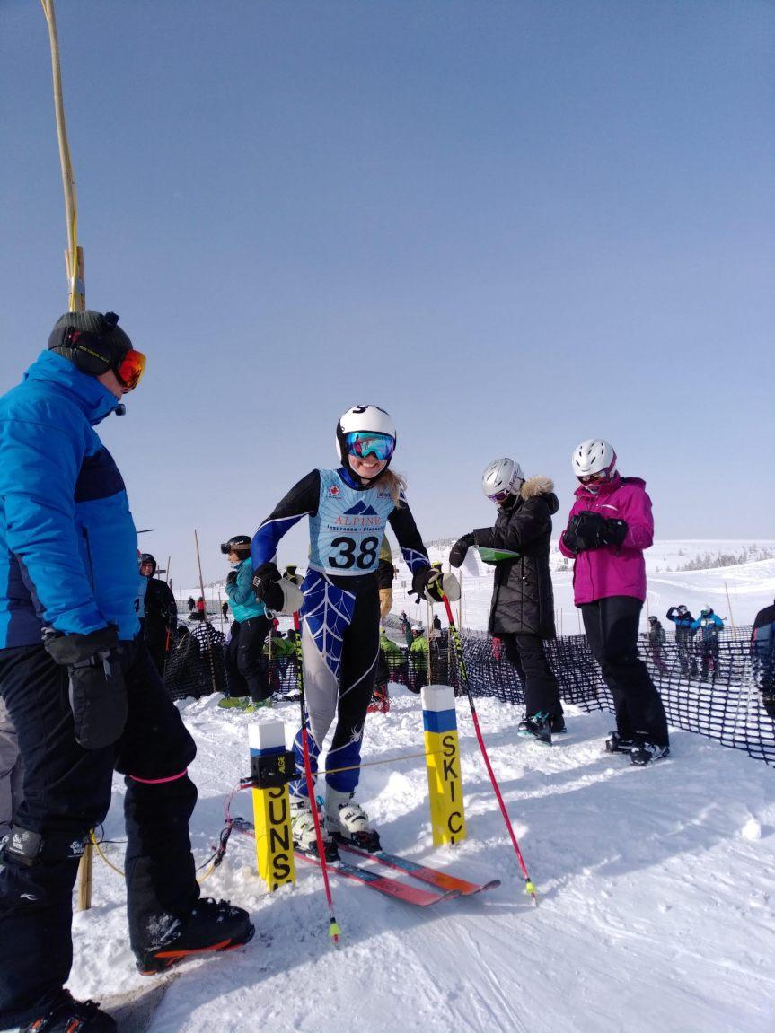 Lara Slokar na startu februar 2019.